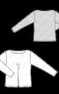 Пуловер прямого крою з в'язаного полотна - фото 3
