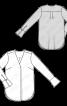 Блуза прямого крою з округленим нижнім краєм - фото 3