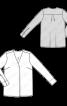 Блуза прямого крою зі складкою біля горловини - фото 3