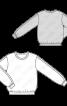 Блуза в стилі світшота з трикотажними манжетами - фото 3
