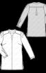 Блуза-сорочка зі складками на рукавах - фото 3