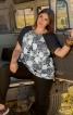 Блузка із зустрічними складками - фото 1