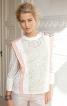 Блуза прямого крою із застібкою на плечі - фото 1