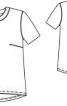 Блузка прямого силуету - фото 3