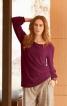 Пуловер з рукавами реглан на манжетах - фото 1