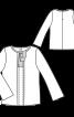 Блузка прямого крою з бантовою складкою - фото 3