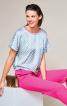 Блуза з V-подібним вирізом на спинці - фото 1