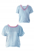 Блуза з V-подібним вирізом на спинці - фото 2