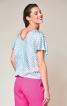 Блуза з V-подібним вирізом на спинці - фото 4