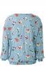 Блуза прямого крою з довгими рукавами - фото 4