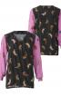 Блузка прямого крою з V-подібною горловиною - фото 2