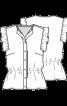 Блузка без рукавів із мереживного полотна - фото 3