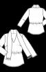 Блузка з коміром-шарфом з бахромою - фото 3