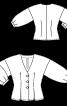 Блуза приталеного крою з рукавами 3/4 - фото 3