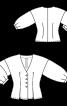 Блуза приталенного кроя с пышными рукавами - фото 3
