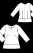 Блузка замшева приталеного крою - фото 3