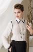 Блузка класичного крою з воланами на рукавах - фото 1