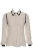 Блузка класичного крою з воланами на рукавах - фото 2