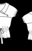 Блуза з кокеткою і короткими рукавами - фото 3