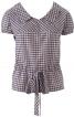 Блуза з кокеткою і короткими рукавами - фото 2