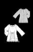 Блуза мереживна з широкими зав'язками - фото 3