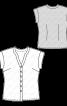 Блуза приталеного крою з короткими рукавами - фото 3
