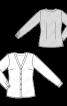 Блузка-сорочка приталеного силуету без коміра - фото 3