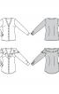 Блузка-сорочка приталеного силуету без коміра - фото 6