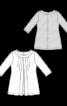 Блузка з рукавами 3/4 і складками біля горловини - фото 3