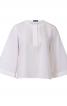 Блуза прямого крою з воланом на спинці - фото 2