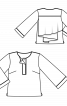 Блуза прямого крою з воланом на спинці - фото 3