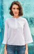 Блуза прямого крою з воланом на спинці - фото 4