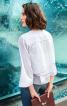 Блуза прямого крою з воланом на спинці - фото 1