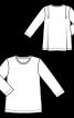 Пуловер прямого кроя со складками на спинке - фото 3