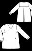 Туніка А-силуету з контрастними деталями - фото 3