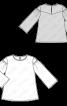 Блуза з широкими рукавами - фото 3