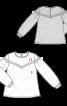 Блуза с кружевной кокеткой - фото 3