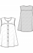 Блуза-туніка А-силуету на кокетці - фото 3