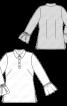 Блузка із застібкою поло і воланами на рукавах - фото 3