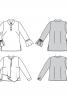 Блузка із застібкою поло і двошаровою пілочкою - фото 6