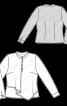 Блузка із застібкою поло і двошаровою пілочкою - фото 3