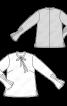 Блуза А-силуету зі складками на рукавах - фото 3