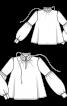 Блузка вільного крою з пишними рукавами - фото 3