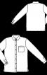 Блузка сорочкового крою з коміром на стойці - фото 3