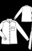 Блузка-сорочка з круглим коміром  - фото 3