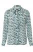 Блузка-сорочка з круглим коміром  - фото 2
