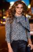 Блузка сорочкового крою з бантом - фото 1