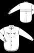 Блузка рубашечного кроя с отлетной кокеткой спинки - фото 3