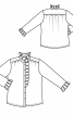 Блузка шовкова сорочкового крою - фото 3