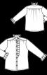 Блузка сорочкового крою із квітковими мотивами на рукавах - фото 3